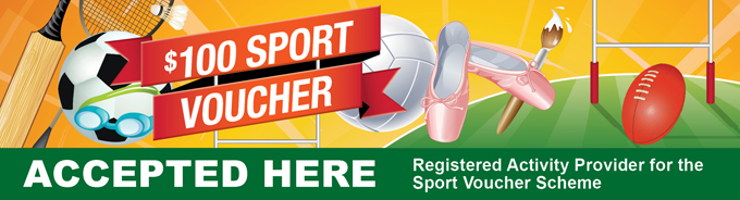 Sports Vouchers Accepted Here