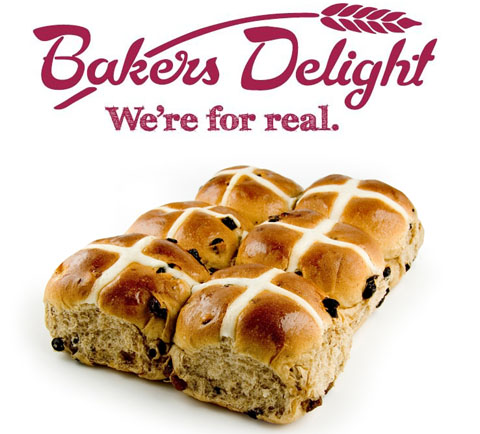Image result for bakers delight hot cross buns