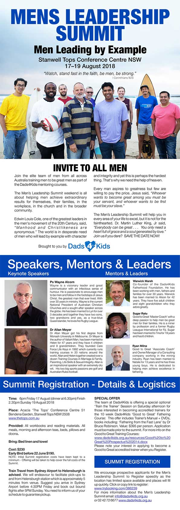 Mens Leadership Summit