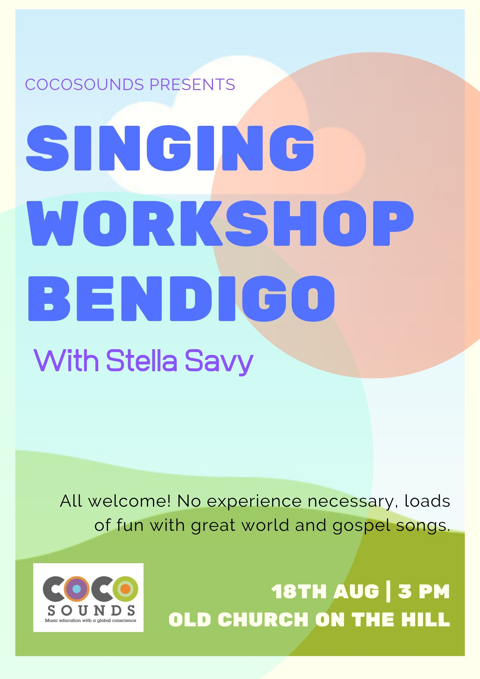 Bendigo Singing Workshop August 18th 2019