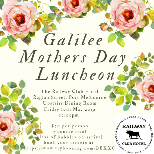 Galilee Mother's Day Lunch 2019