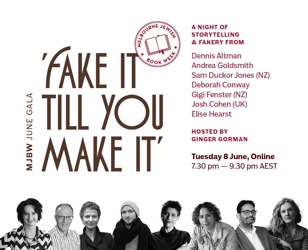 Melbourne Jewish Book Week Gala - Fake It Till You Make It