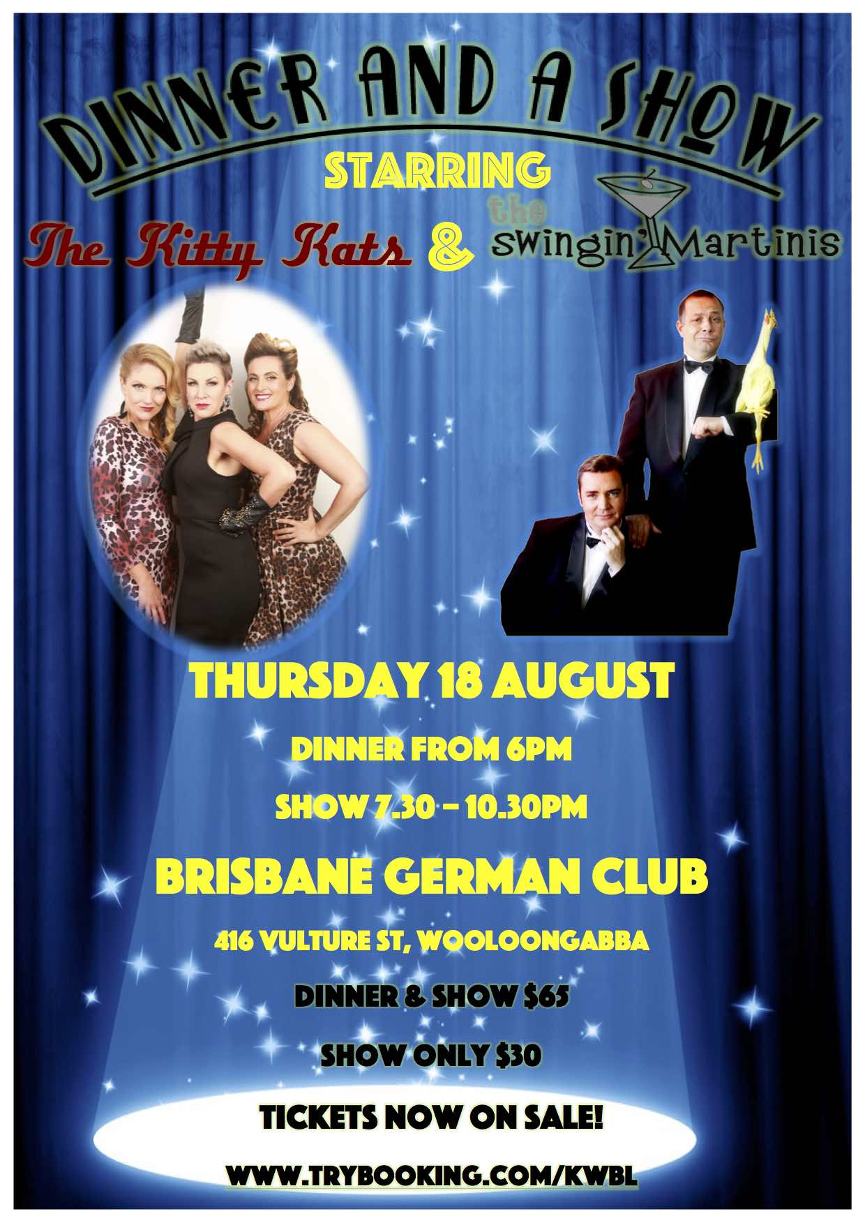 dinner and show brisbane