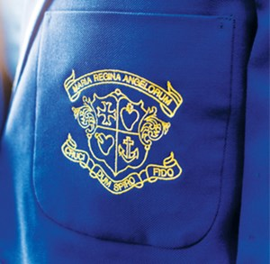 loreto hall school uniform blazer with logo