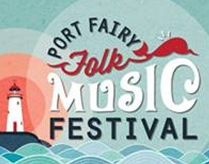Port Fairy Folk Music Festival logo promotional flyer