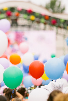 Festival event colorful ballons
