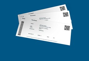 TryBooking sample tickets with QR codes