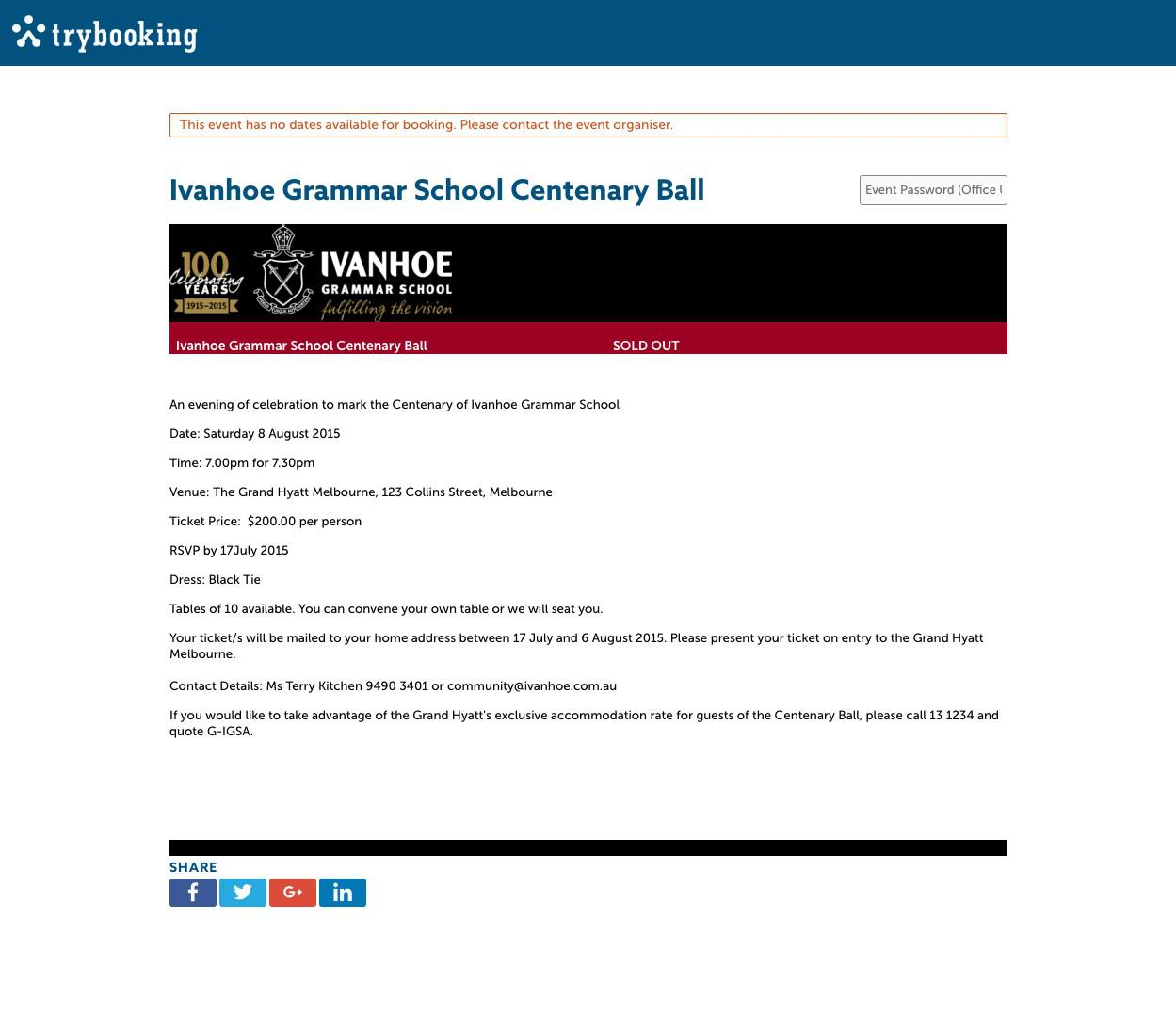 Ivanhoe Grammar Centenary Ball Event Page TryBooking