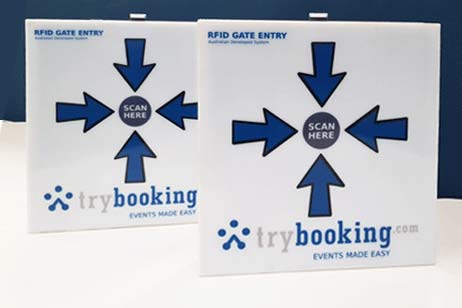 TryBooking RFID scan units