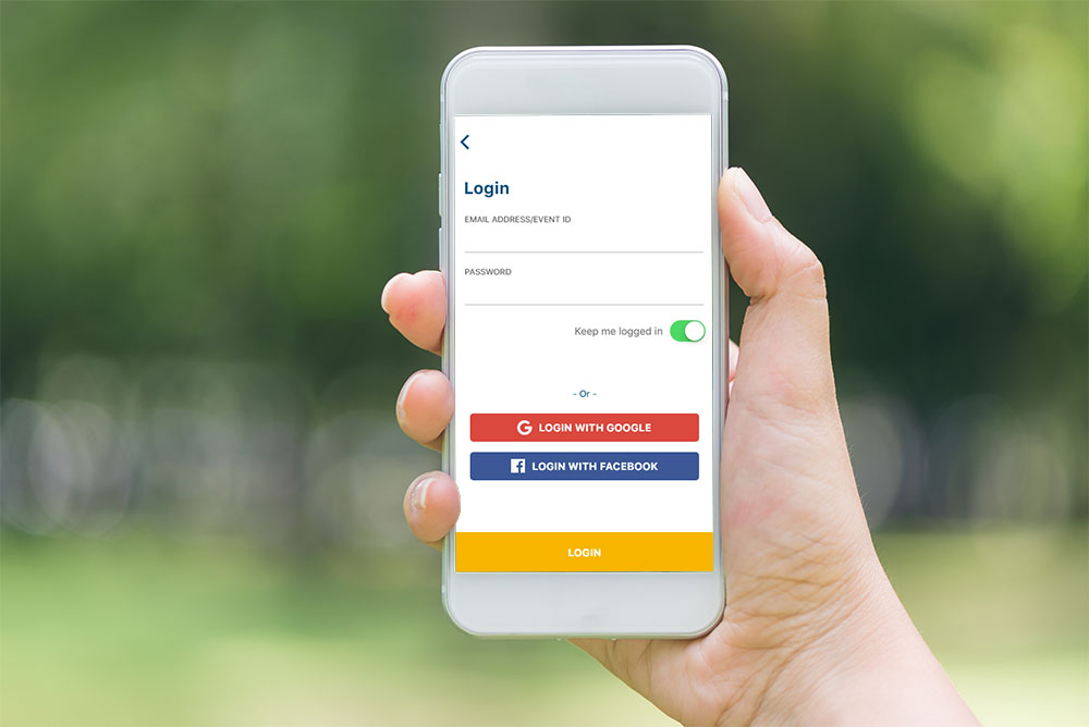 Sign in to the TryBooking scanning app with your social login