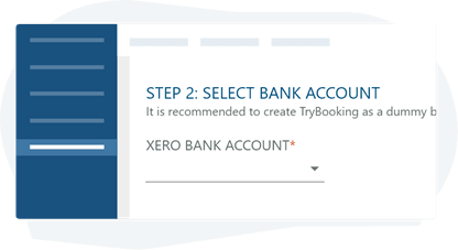 Selecting a bank account