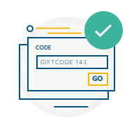 Gift code input icon