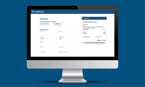A PC screen displaying PayPal payment option
