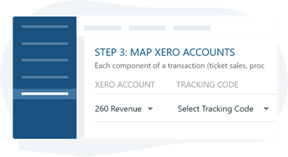 Xero account with tracking code
